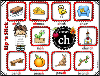 Consonant Digraphs Literacy Station