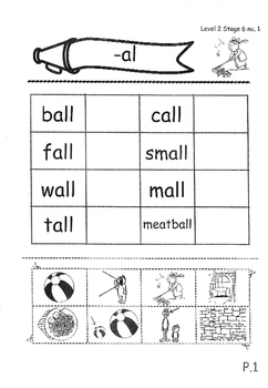 Phonics Book – Level 2 (Book 2) – Supplementary Exercises 6 ( Jolly Phonics )