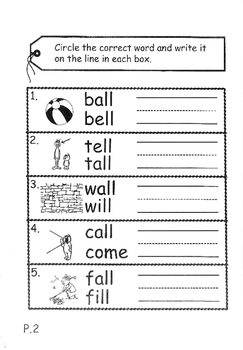 Phonics Book – Level 2 (Book 2) – Supplementary Exercises 6 ( Jolly Phonics )