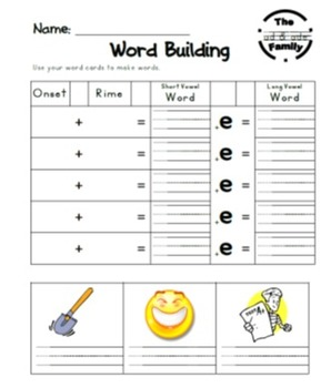 Phonics Book - Short and Long Vowel Word Families with Blends
