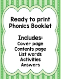 Phonics Booklet