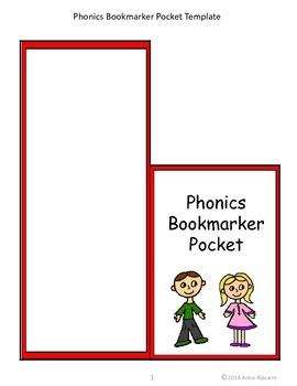 Phonics Bookmarker Pockets