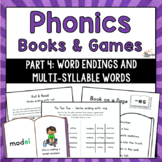 Phonics Books & Games: Word Endings & Multi-Syllable Words