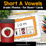 Phonics Boom Cards - Digital Phonics Activities Short A Wo