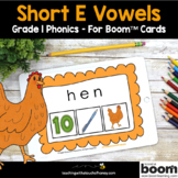 Phonics Boom Cards - Digital Phonics Activities Short E Wo