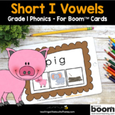 Phonics Boom Cards - Digital Phonics Activities Short I Wo