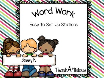 Phonics- Bossy R word work activities