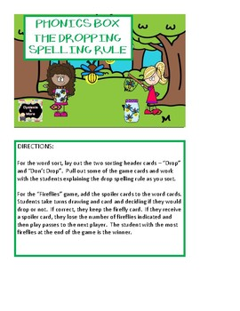 Phonics Box - The Dropping Spelling Rule