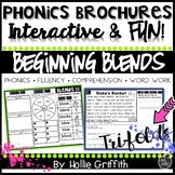 Beginning Blends Fluency Passages and Word Work - Phonics Brochures