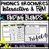 Ending Blends Fluency Passages and Word Work - Phonics Brochures