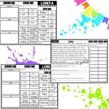 Phonics Brochures: Vowel Teams Reading and Fluency Passages SET 2