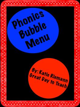 Phonics Bubble Menu