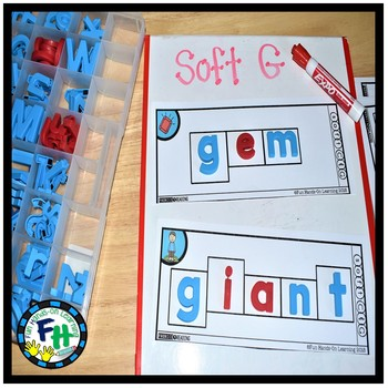 Phonics Build-It Strips (Soft C & G and Y as a Vowel)