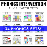 Phonics Intervention Games K-2 Mega BUNDLE