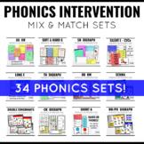 Phonics Intervention Games K-2 Mega BUNDLE
