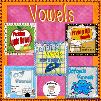 Phonics- Vowel Pack (Long & Short)