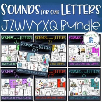 Phonics Bundle 4 for  J-Z-W-V-Y-X-Q