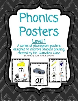 Phonics Bundle - Flashcards and Posters Levels 1 and 2