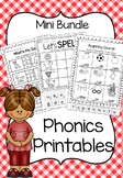 Phonics Printable Worksheet Bundle - Beginning Sounds and