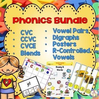 Phonics Bundle~ CVC- CCVC- CVCE