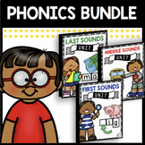 Phonics Bundle - CVC Words - Initial - Medial - Final Sounds - Reading