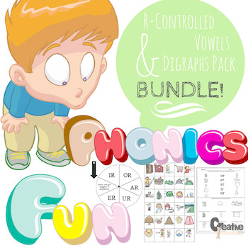 Phonics Bundle! Digraphs and R-Controlled Vowels Save Money!