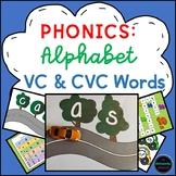 Phonics Bundle: Letter Sounds & VC and CVC Activity