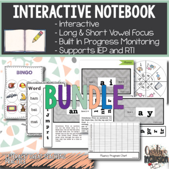Phonics Bundle! Long and Short Vowels Interactive Notebooks!