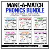 Phonics Bundle: Make-A-Match Card Games