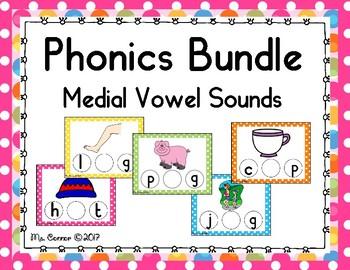 Phonics Bundle Medial Short Vowel Sounds