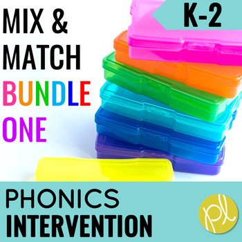 Phonics Intervention Games K-2 BUNDLE Set One