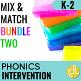 Phonics Intervention Games K-2 BUNDLE Set Two