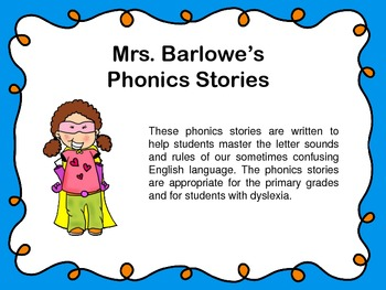 Phonics Lessons Bundle: Mrs. Barlowe's Phonics Stories