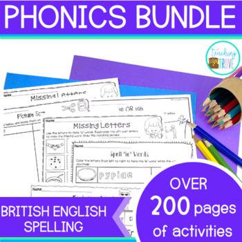 Phonics Bundle - posters and worksheets (British English S