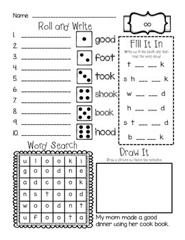 Phonics Bundle - short /oo/