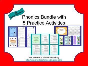 Phonics Bundle with 5 Practice Activities