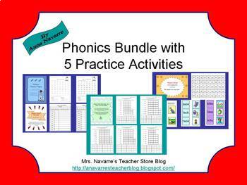 Phonics Bundle with 5 Practice Activities