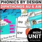 AU AW Phonics by Design Mini-Unit   AU AW Activities