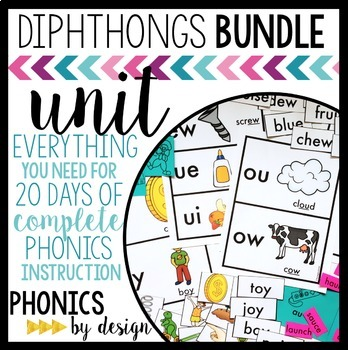 Phonics By Design Diphthongs Unit BUNDLE
