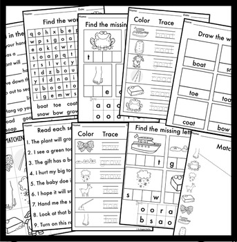 OA OW OE Phonics By Design Mini-Unit | Long O Activities
