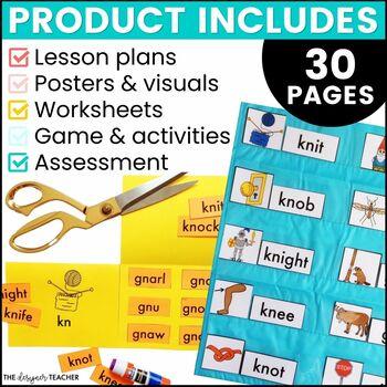 Silent Letters KN GN Phonics By Design Mini-Unit | Silent Letters Activities