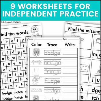 Phonics By Design Trigraphs DGE & TCH Mini-Unit