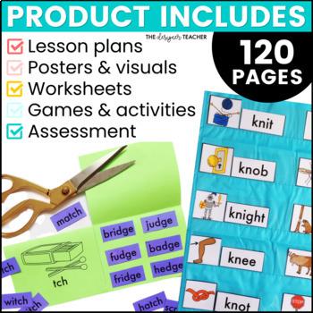 Phonics By Design Trigraphs, Silent Letters, & Soft C & G Unit BUNDLE
