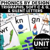 Trigraphs, Silent Letters WR KN GN, & Soft C & G Phonics by Design Unit BUNDLE