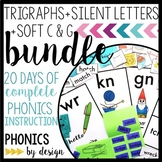 Trigraphs, Silent Letters WR KN GN, & Soft C & G Phonics by Design Unit BUNDLE
