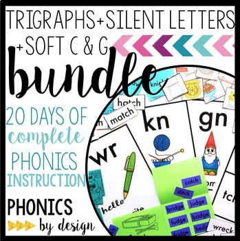 Phonics By Design Trigraphs, Silent Letters, & Soft C & G