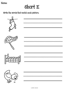 No Prep Phonics CVC Assessment Pack