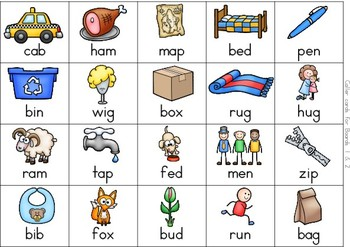Phonics - CVC Bingo Game