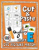 Phonics: CVC Cut & Paste Matching Activity (Short E)