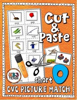 Phonics: CVC Cut & Paste Matching Activity (Short O)
